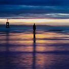 Blue man, another place on Crosby beach by Ian Moran