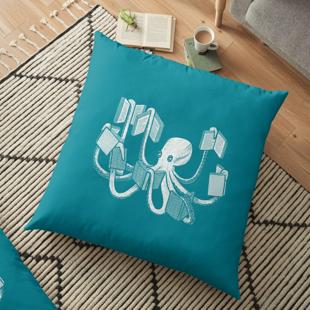 Armed With Knowledge Floor Pillow