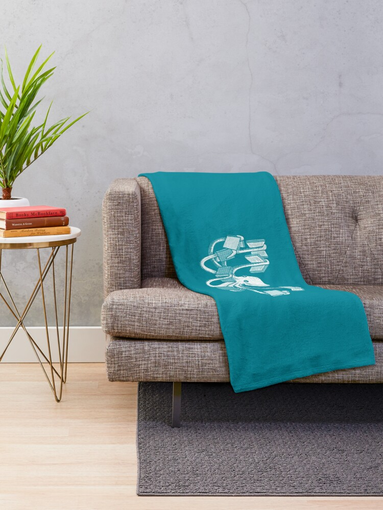Alternate view of Armed With Knowledge Throw Blanket