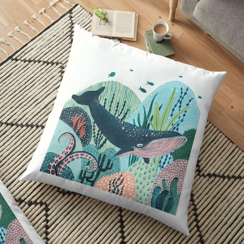 Blue Whale Floor Pillow