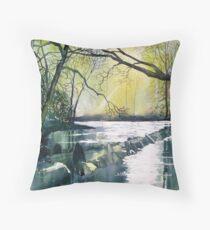 Tarr Steps, Exmoor Throw Pillow