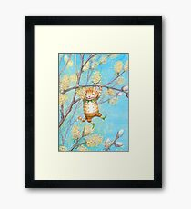 Catkin - cute pussy-willow-pixie Framed Art Print