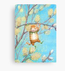 Catkin - cute pussy-willow-pixie Canvas Print
