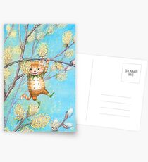 Catkin - cute pussy-willow-pixie Postcards