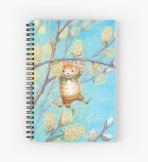 Catkin - cute pussy-willow-pixie Spiral Notebook