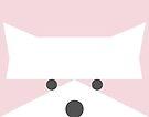 Peek-a-Boo Raccoon, Soft Pink by Kendra Shedenhelm