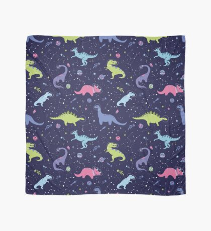 Space Dinosaurs in a Purple Sky Scarf