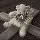 Teddy Bear on Cross #1 by farmboy