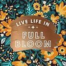 Lebe das Leben in voller Blüte - Rose Gold & Orange Palette von Cat Coquillette