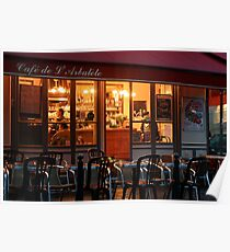 Nighttime at the Café de Arbalète Poster