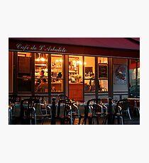 Nighttime at the Café de Arbalète Photographic Print