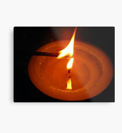 Candles are contagious Metal Print