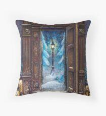 Christmas in Narnia Throw Pillow
