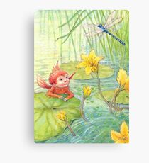 Nixie - cute water-pixie Canvas Print