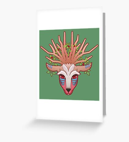 Shishigami, The Forest Spirit Greeting Card