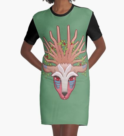Shishigami, The Forest Spirit Graphic T-Shirt Dress