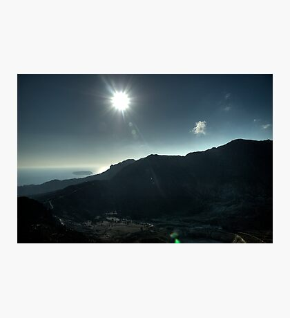 The midday sun from the Caldera Photographic Print