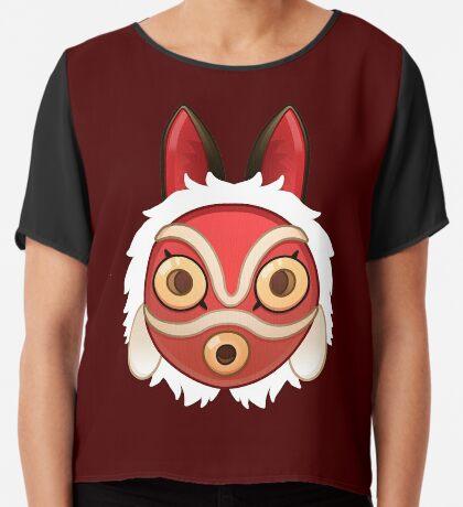 Mononokes' Mask Chiffon Top