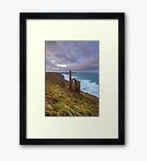 Wheal Coates tin mine Framed Print