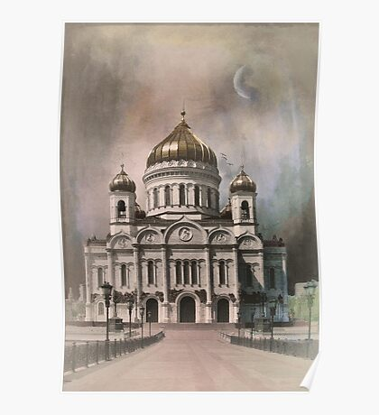The Cathedral of Christ the Saviour . Poster