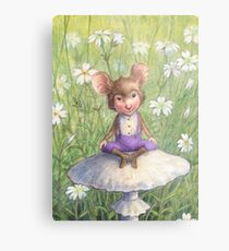 Mosely - cute little mouse-pixie Metal Print