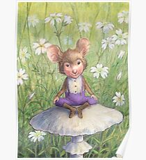 Mosely - cute little mouse-pixie Poster
