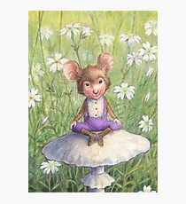 Mosely - cute little mouse-pixie Photographic Print