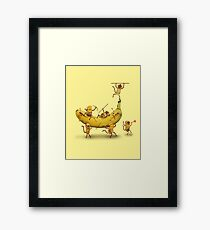 Monkeys are nuts Framed Print
