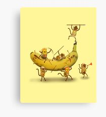 Monkeys are nuts Canvas Print