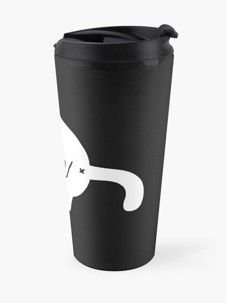 Alternate view of Depression Cat Travel Mug
