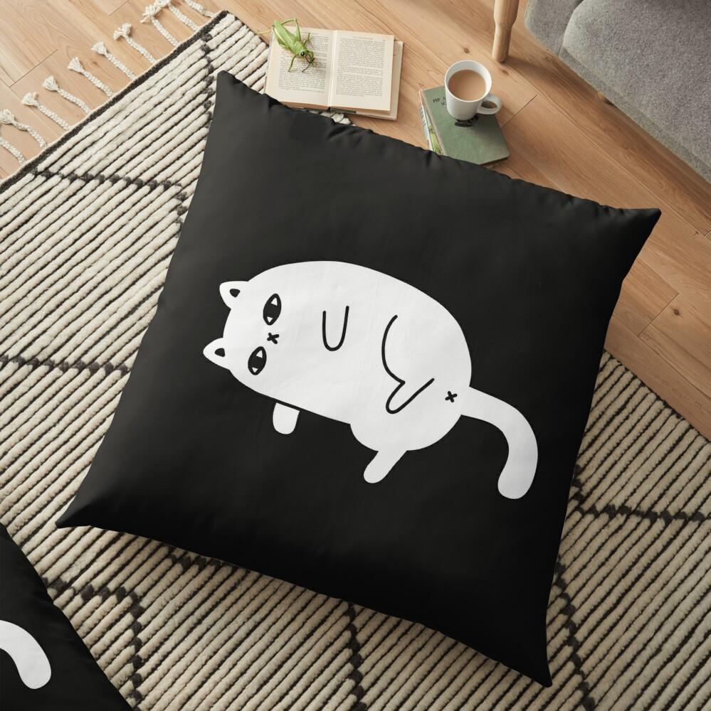 Depression Cat Floor Pillow