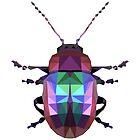 Geometric rainbow beetle by purplesparrow