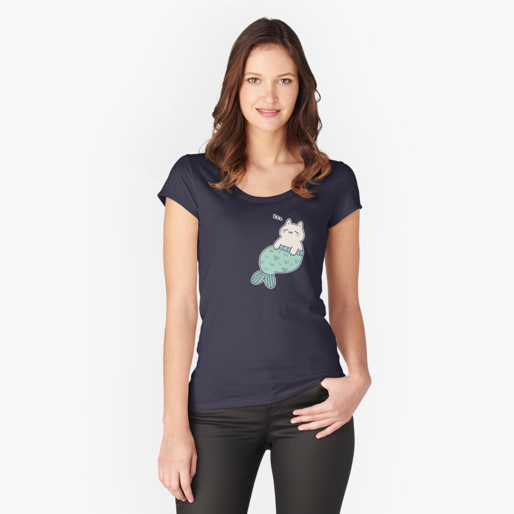 Sleeping Catfish Fitted Scoop T-Shirt