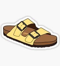 gelber Birkenstock Sticker