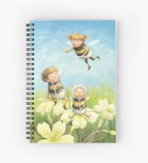 The Bimbles - Cute bee-pixie family Spiral Notebook