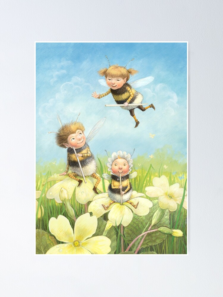 Alternate view of The Bimbles - Cute bee-pixie family Poster