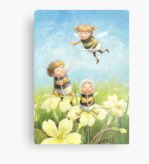 The Bimbles - Cute bee-pixie family Metal Print