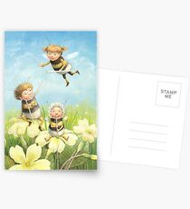 The Bimbles - Cute bee-pixie family Postcards