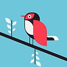 Sparrow in blue by Marco Recuero
