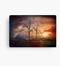 Singing sails...... Canvas Print