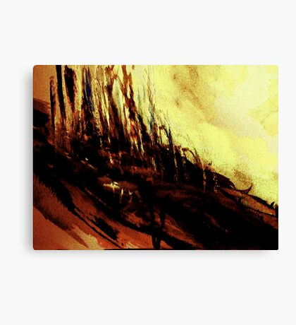 slopes #1.... rural town outskirts  Canvas Print