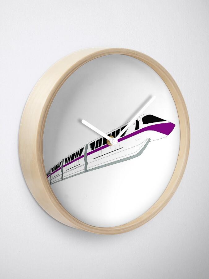 Alternative Ansicht von Lila Einschienenbahn Uhr