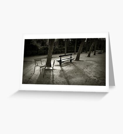 Jardin du Luxembourg Greeting Card