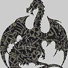 Necromancy Dragon Silhouette by ferinefire