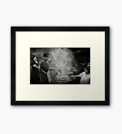 Barbecue Framed Print