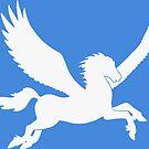 White Pegasus Silhouette by ferinefire