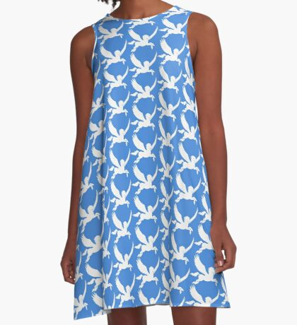 White Pegasus Silhouette A-Line Dress