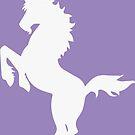 White Unicorn Silhouette by ferinefire