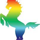 Rainbow Unicorn Silhouette by ferinefire