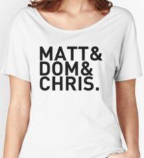 Matt&Dom&Chris. (black) Women's Relaxed Fit T-Shirt